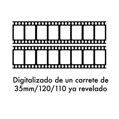 Digitalizado de negativos ya revelados (1 carrete)