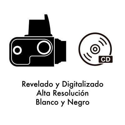 Revelado + Digitalización Blanco y Negro ALTA RESOLUCIÓN