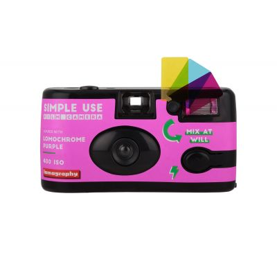 Lomography Simple Use Purple Cámara desechable reutilizable 27 fotos