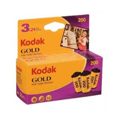 Kodak Gold 200 35mm 24 exp (pack 3)