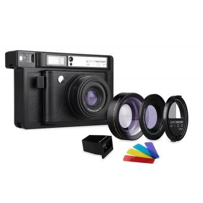 Lomo'Instant Wide Negra + 3 lentes